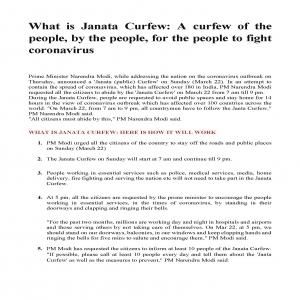 Janata Curfew 22-03-2020